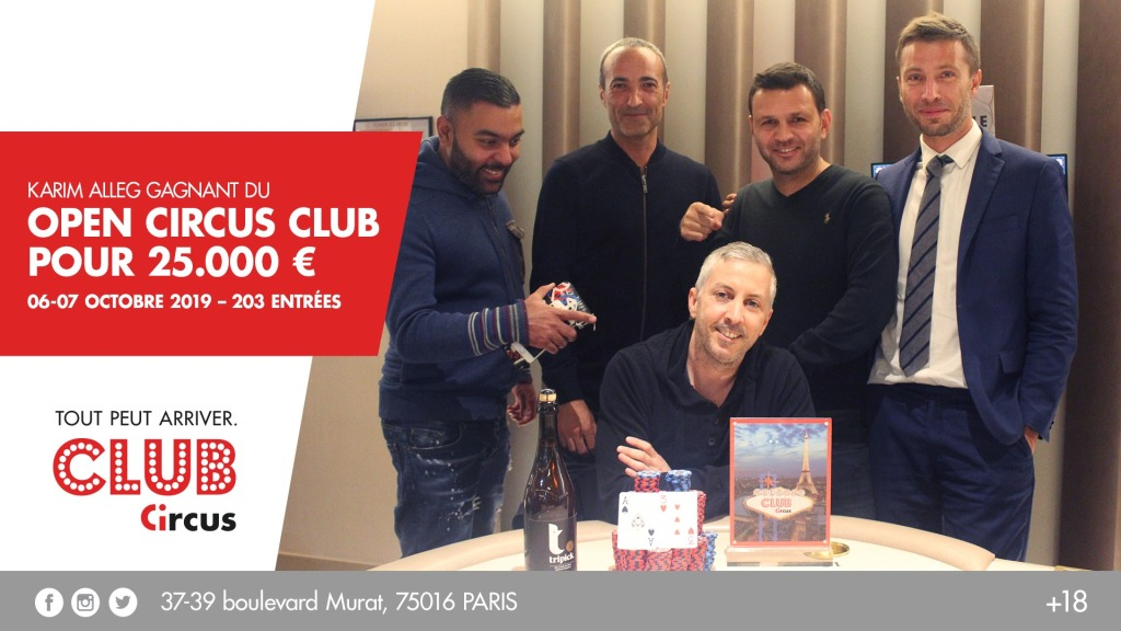 Karim Alleg remporte l'Open Circus