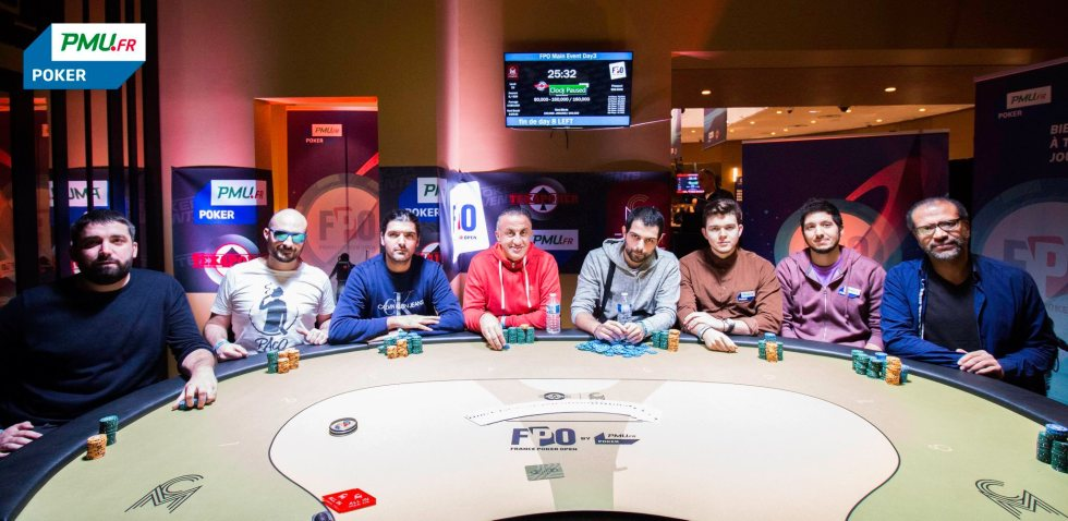 La table finale du Main Event du FPO Paris